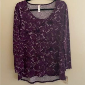 Long sleeve shirt new Lynnae lu la roe purple